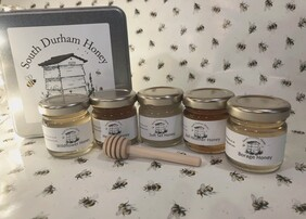 Honey Tin with 5 Taster Jars