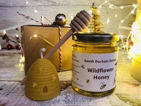 Honey and Candle Gift Box